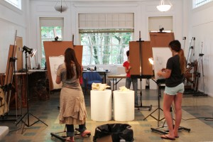in studio at our creative arts summer camp